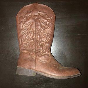Adorable Girl's Cowboy Boots Comfortable Like New